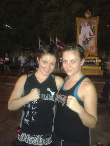 Sarah and I after the fight.