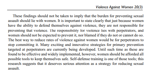 does self defense training prevent rape sexual assault